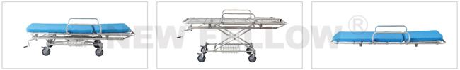 Aluminum Alloy Detachable Hospital Medical Transfer Patient Stretcher Trolley