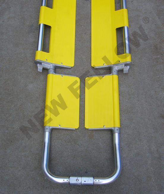 Outdoor Rescue Collapsible Ambulance Stretcher Trolley With Steel Buckle Belts