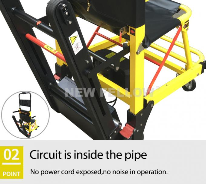 Yellow Stair Climbing Wheelchair Ambulance Electric Stair