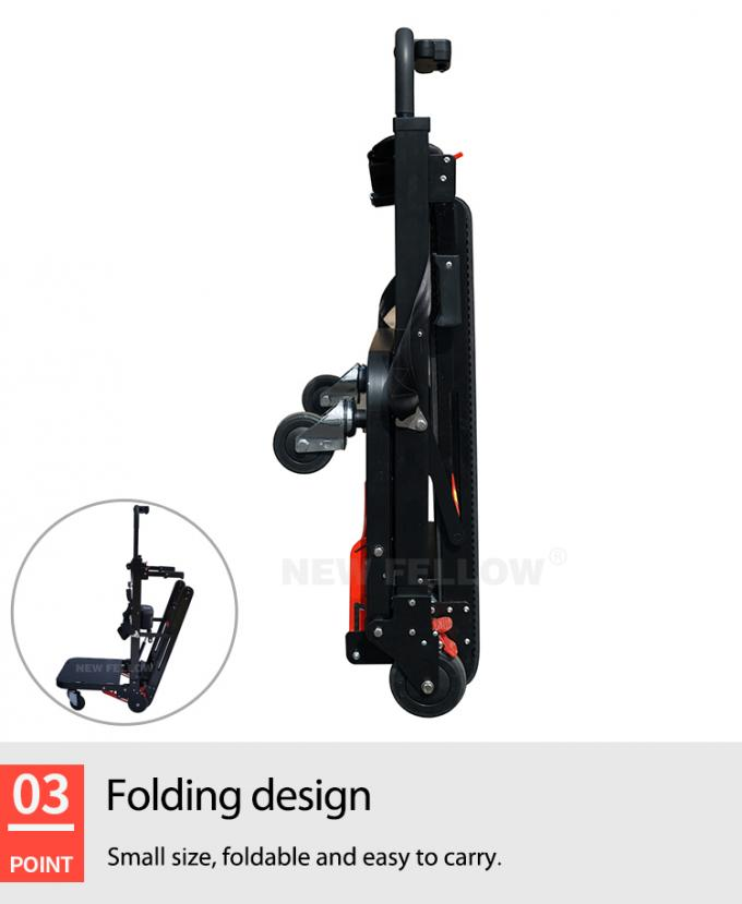 Electric Pull Truck Tool Car Stair Climbing Trolley With Lithium Battery