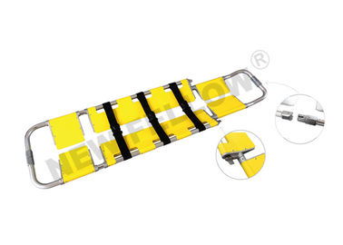 Good Quality Ambulance Stretcher & Yellow Emergency Detachable Aluminum Scoop Stretcher Folding Stretcher With Wheels on sale