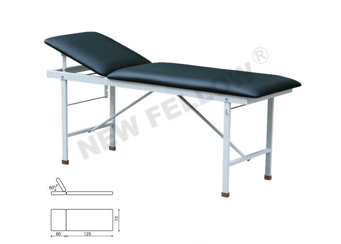Power coated Square Tube Hospital Examination Table / Couch 185×62×72cm