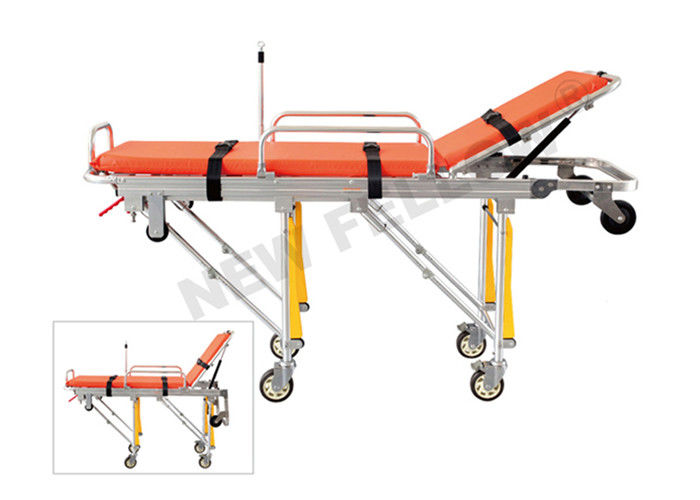 Foldable Elevator Ambulance Stretcher , Medical Rescue Stretcher Trolley