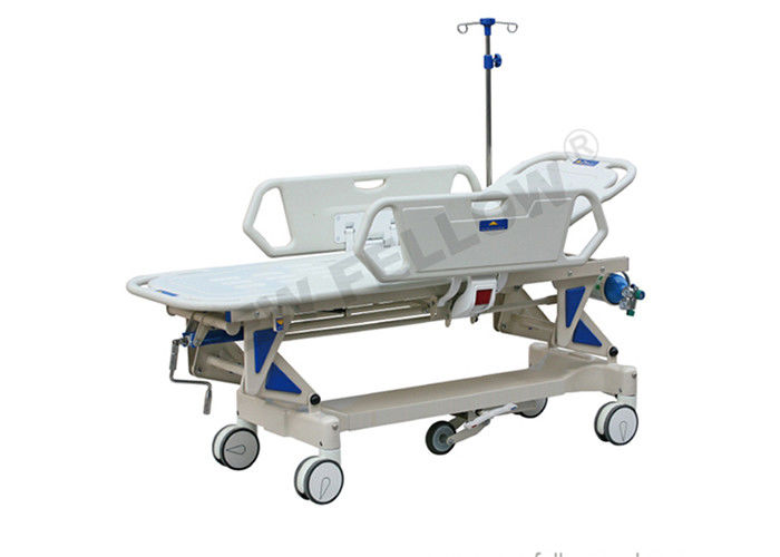 Luxury Adjustable ABS Plastic Patient Transport Trolley For Hospital