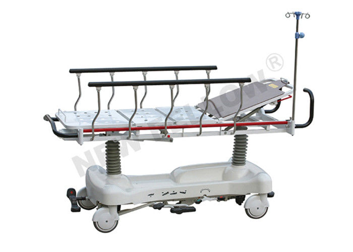 Luxurious Power Coated Steel Patient Stretcher Trolley With Height Adjustable CE / FDA