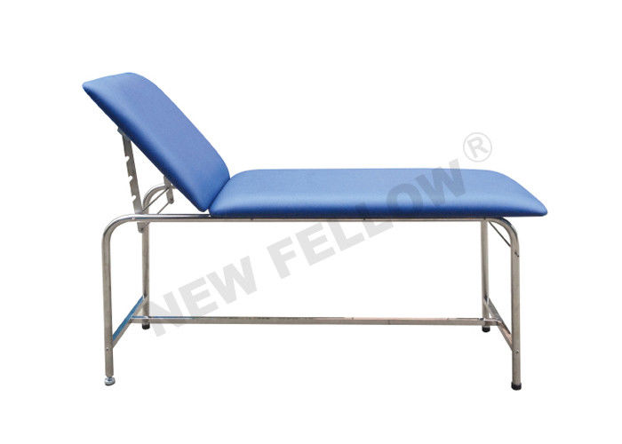Stainless Steel Cylindrical Tube Hospital Examination Table With Adjustable Backrest