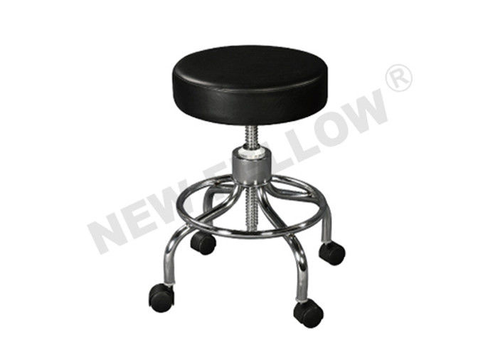 Chromium coated Steel Sponge Mattress Doctor Stool for Hospital