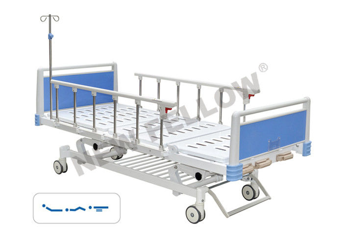 adjustable modern Medical Hospital Beds with 75° Back Angle CE / FDA