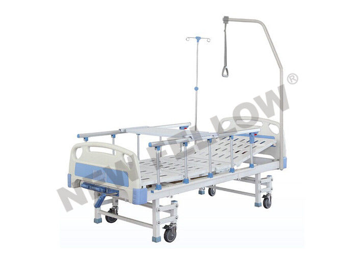 Modern Portable Adjustable Medical Bed With Foldaway Guardrail