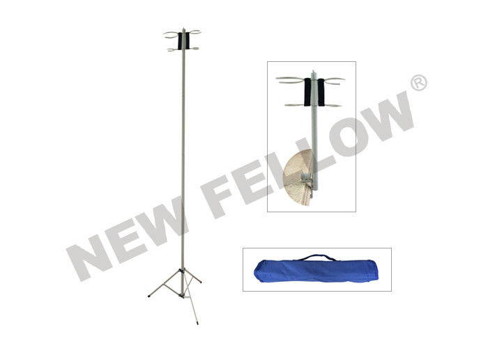 Powder - Coated Steel Detachable Portable IV Stand With Hand Bag
