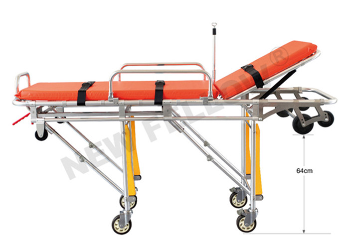 Emergency Rescue Aluminum Alloy Ambulance Stretcher Cot For Fire Fighting