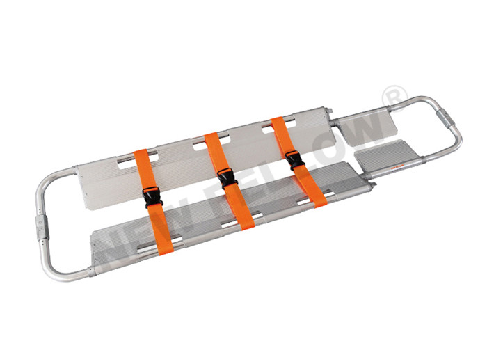 Aluminum Alloy Foldable Scoop Stretcher For Hospital CE / FDA 214×42×7cm