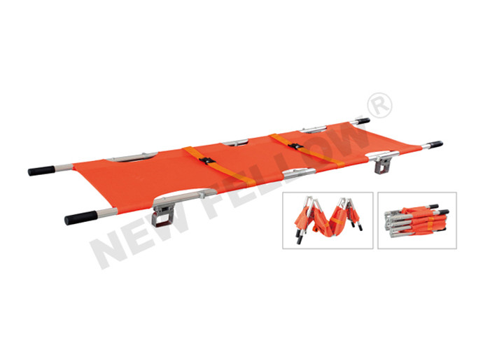 Professional Wounded Patients Emergency Folding Stretcher For Outdoor Rescue