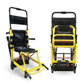 Yellow Stair Climbing Wheelchair Ambulance Electric Stair Chair Stretcher