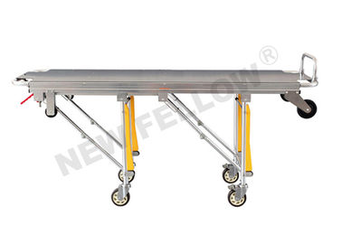 High strength Aluminum Alloy Foldable Funeral Stretcher Trolley For Hospital