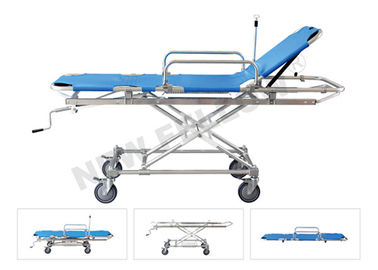 High Strength Aluminum Adjustable Ambulance Trolley Stretchers ISO9001/13485
