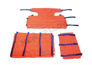 Orange Foldable Patients Transfer Stretcher , Emergency Full Body Vacuum Splint