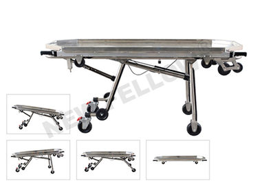 Stainless Steel Automatic Loading Funeral Stretcher With Detachable Tray