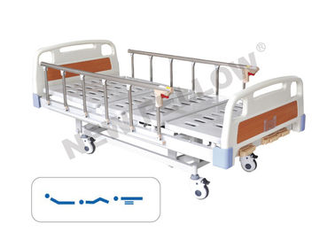 Manual Three Function Medical Hospital Bed With 5 Inch Silent Caster