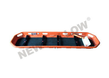Orange Heavy Duty ABS Plastic Rescue Basket Stretcher With 4pcs Safety Belts