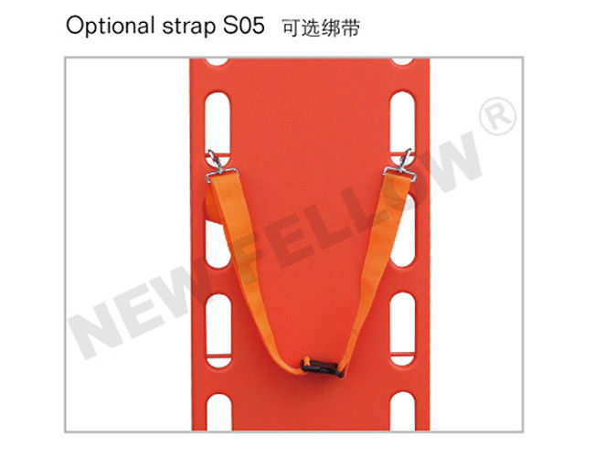 x ray allowed portable floating spine board stretcher orange